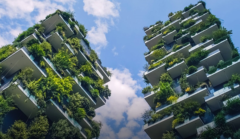 The Bosco Verticale in Milan (© Freudenberg)